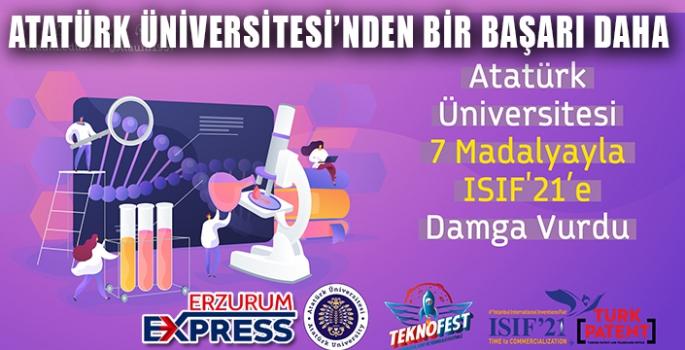 Atatürk Üniversitesi 7 Madalyayla Isıf'21'e damga vurdu