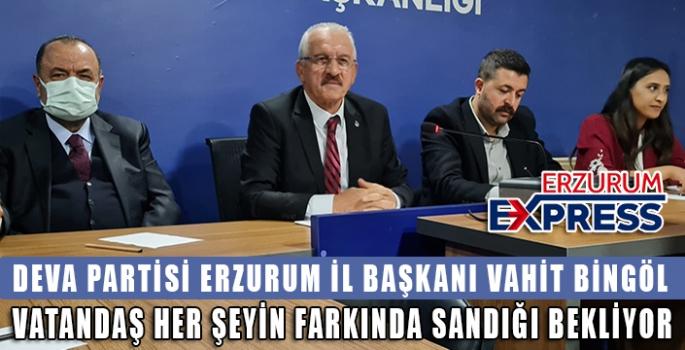 DEVA PARTİSİ ERZURUM'DA 1 YAŞINDA