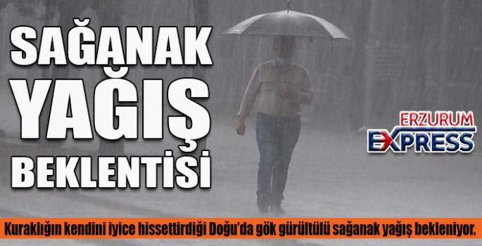 Doğu Anadolu'da gök gürültülü sağanak yağış bekleniyor