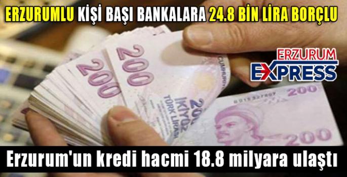 Erzurum'un kredi hacmi 18.8 milyara ulaştı