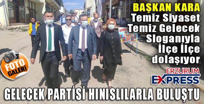 GELECEK PARTİSİ HINISLILARLA BULUŞTU