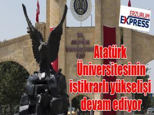 Atatürk Üniversitesinin istikrarlı yükselişi devam ediyor
