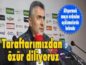 """BB Erzurumspor Teknik Direktörü Mehmet Altıparmak:  """"Hiç beklemediğimiz bir mağlubiyet oldu"""""""