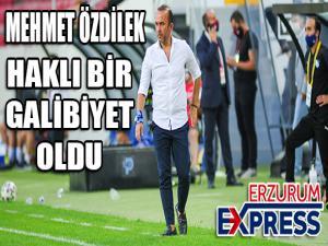BB Erzurumspor Teknik Direktörü Özdilek: