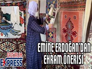 Cumhurbaşkanı Erdoğan'ın eşi Emine Erdoğan Erzurum Otağını ziyaret etti