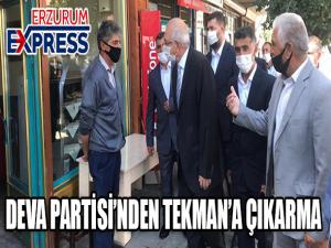 DEVA PARTİSİ TEKMAN'DA KONGRE YAPTI