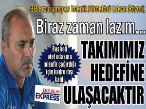 """Erkan Sözeri: """"Eninde sonunda hedefimize ulaşacağız"""""""