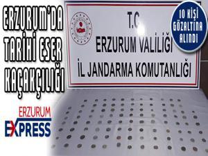 Erzurum'da tarihi eser kaçakçılığı: 10 gözaltı