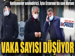 Erzurum'da vaka sayısı düşüyor
