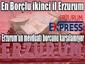 Erzurum'un mevduatı borcunu karşılamıyor