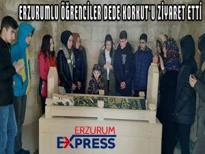 ERZURUMLU ÖĞRENCİLER DEDE KORKUT'U ZİYARET ETTİ