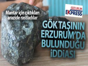 Gökyüzünde görülen gök taşının Erzurum'da bulunduğu iddiası