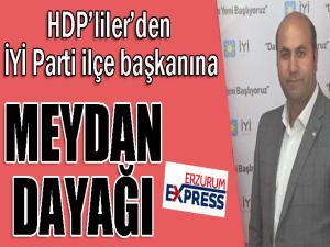 HDP'liler'den İYİ Parti ilçe başkanına