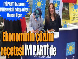 İYİ Parti Milletvekili aday adayı Canan Uçar: Ekonominin çözüm reçetesi İYİ PARTİ'de