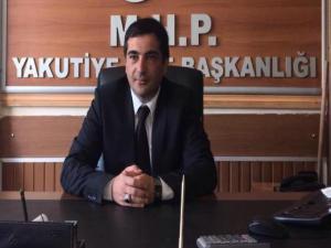 MHP Yakutiye İlçe Başkanı Pasin'den kandil mesajı