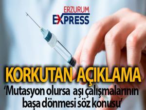 Prof. Dr. Oğuztürk: 'Ciddi anlamda bir mutasyon olursa aşı çalışmalarının başa dönme riski söz konusu olabilir'