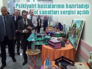 Psikiyatri hastalarının hazırladığı el sanatları sergisi açıldı