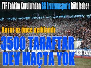 Tahkim kurulundan BB Erzurumspor'a kötü haber...