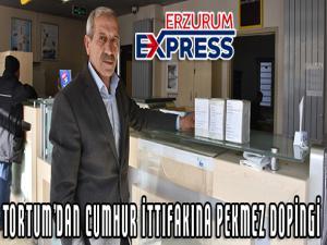Tortum'dan Cumhur İttifakına pekmez dopingi