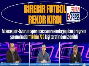 YAĞIZ TV ve Birebir Futbol rekor kırdı