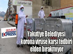 Yakutiye Belediyesi korona virüse karşı tedbiri elden bırakmıyor
