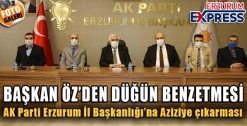 AK PartiErzurumİl Başkanlığı'na Aziziye çıkarması