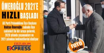 AK Parti Palandöken İlçe Teşkilatı Yeni yıla hızlı başladı.