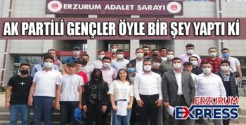 AK Partili gençlerden tepki.