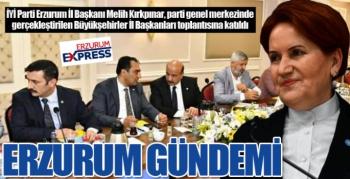 Akşener'in Erzurum ilgisi...
