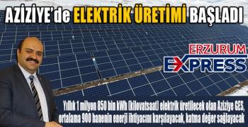 Aziziye'den yenilenebilir enerji yatırımı hamlesi