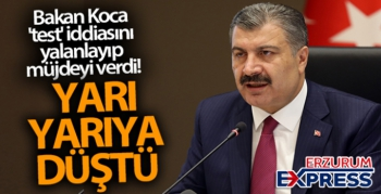 Bakan Fahrettin Koca 'test' iddiasını yalanlayıp müjdeyi verdi!