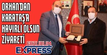 BAŞKAN ORHAN'DAN MHP İL TİŞKİLATINA ZİYARET