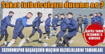 BBErzurumspor'da Medipol Başakşehir maçı hazırlıkları