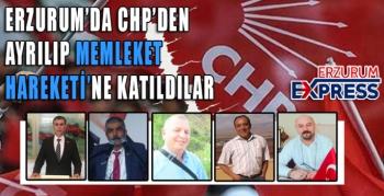 CHP'DEN AYRILIP, MEMLEKET HAREKETİNE KATILDILAR