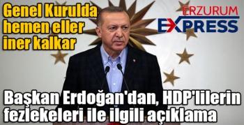 Cumhurbaşkanı Erdoğan'dan HDP'lilerin fezlekeleri ile ilgili açıklama