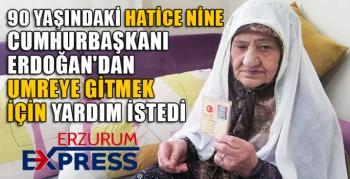CUMHURBAŞKANI ERDOĞAN'DAN UMREYE GİTMEK İÇİN YARDIM İSTEDİ.