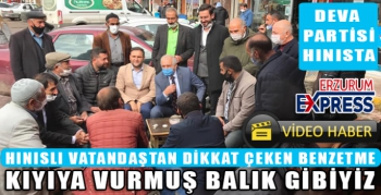 DEVA PARTİSİ İL BAŞKANI BİNGÖL HINIS'TA