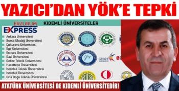 ERZURUM ATATÜRK ÜNİVERSİTESİ DE KIDEMLİ ÜNİVERSİTEDİR.!