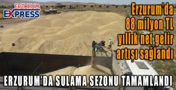 Erzurum'da 88 milyon TL yıllık net gelir artışı sağlandı