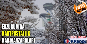 Erzurum'da kartpostallık kış manzaraları