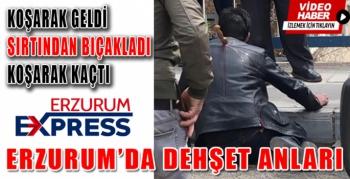 Erzurum'da sırtından bıçaklandı
