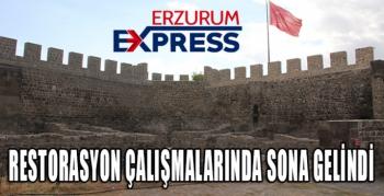 ErzurumKalesi restorasyon çalışmalarında sona gelindi