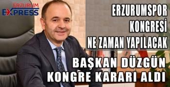 ERZURUMSPOR KONGREYE GİDİYOR.