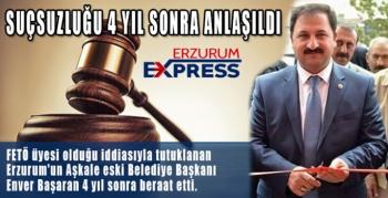 FETÖ'den tutuklu yargılanan Aşkale eski Belediye Başkanına 4 yıl sonra beraat kararı
