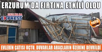Fırtına evin çatısını uçurdu, duvarını yıktı