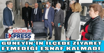 GÜNEYİN'İN YAKUTİYE'DE ZİYARET ETMEDİĞİ ESNAF KALMADI.