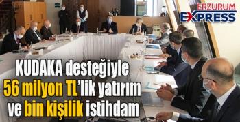 KUDAKA desteğiyle 56 milyon TL'lik yatırım ve bin kişilik istihdam