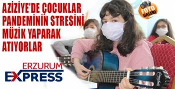 Minikler pandemi stresini bağlama, keman ve gitar çalarak atıyor
