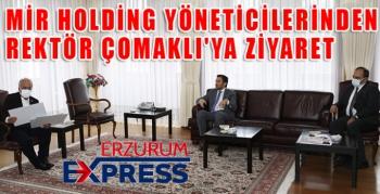 Mir Holding yöneticilerinden Rektör Çomaklı'ya ziyaret