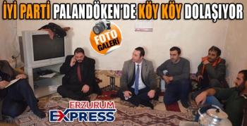 PALANDÖKEN'DE İYİ PARTİ SAHAYA İNDİ